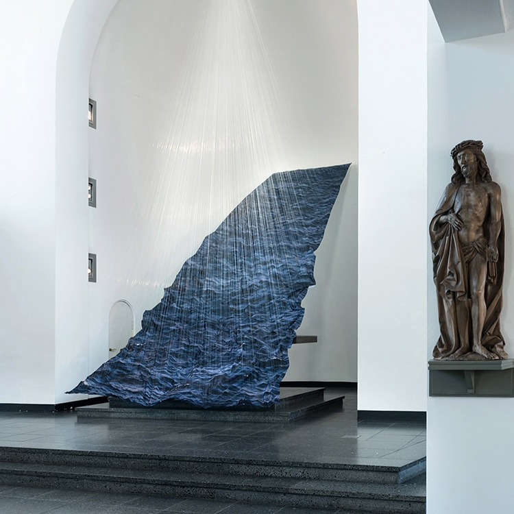Installation Art Made from Fabric Mimics a Dark, Stormy Ocean