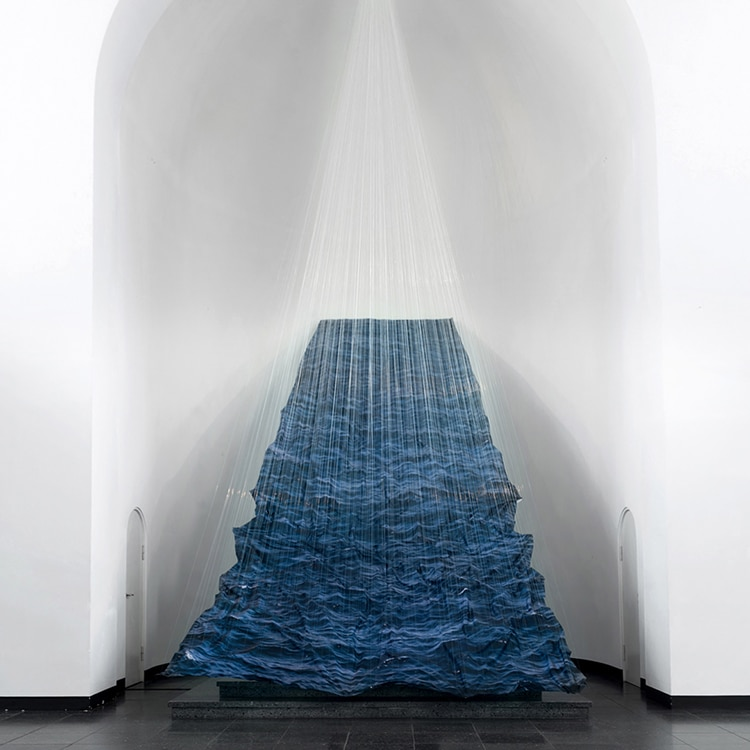 Installation Art Made From Fabric Mimics A Dark Stormy Ocean