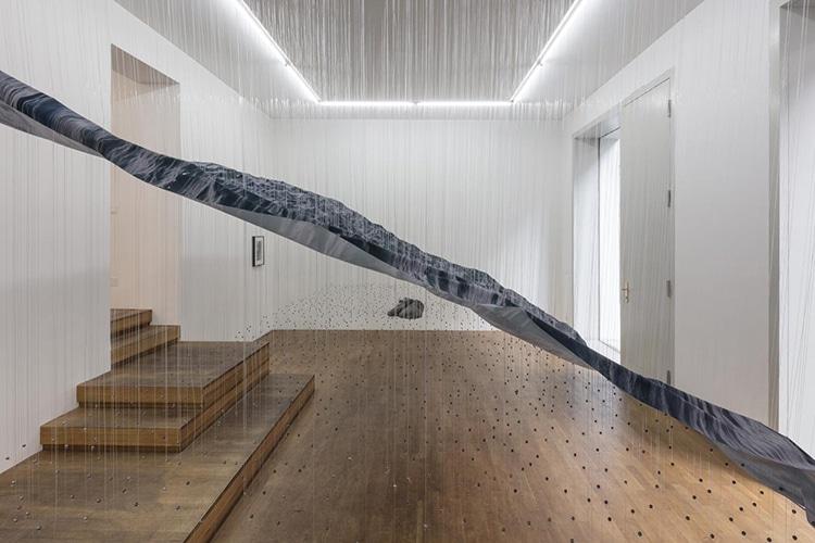 Ocean Wave Art Installation by Miguel Rothschild