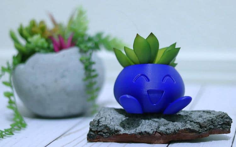 Oddish Pokemon Planter by Engrave Craze