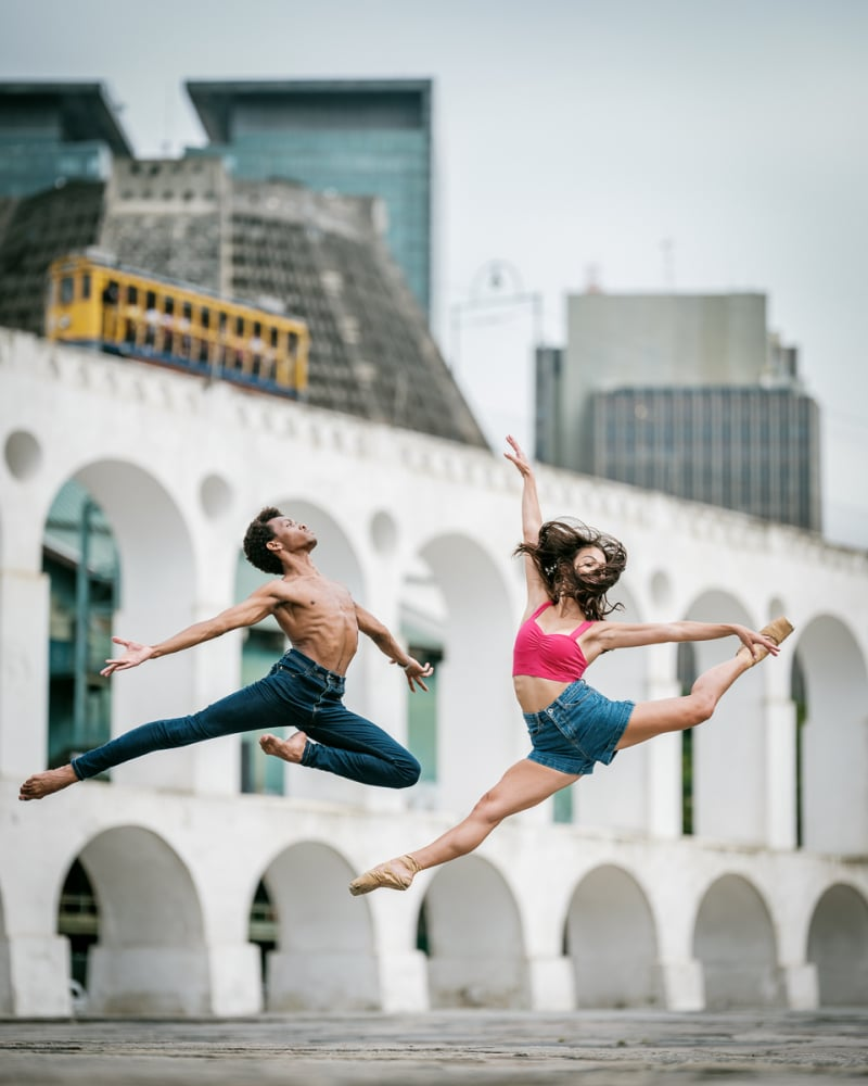 Ballet Dancers in Rio de Janeiro by Omar Z Robles