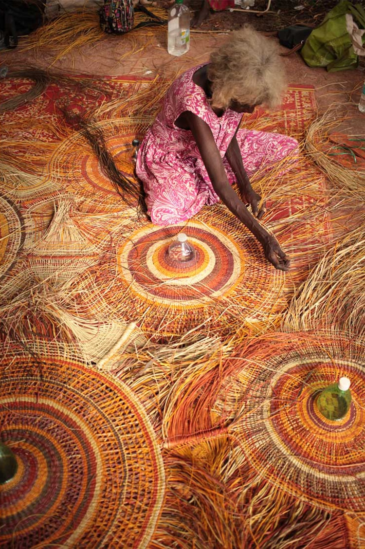 Collaborative Lamps Weave Aboriginal Art With Recycled