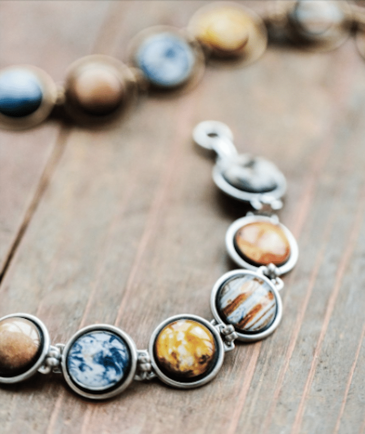 Planet Jewelry Science Jewelry Solar System Necklace Solar System Bracelet BeautySpot