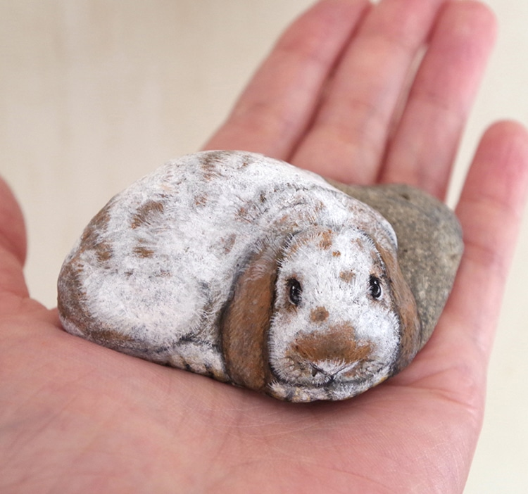 Stone Paintings Transform Rocks into Adorable Animals | 750 x 702 jpeg 114kB