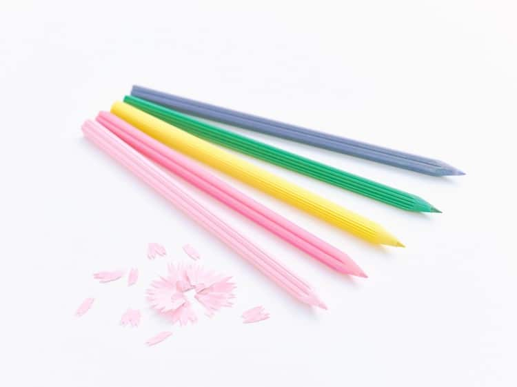 Japanese Flowers Cute Pencils Petal Pencil Shavings Flower Pencils Toshihiro Otomo