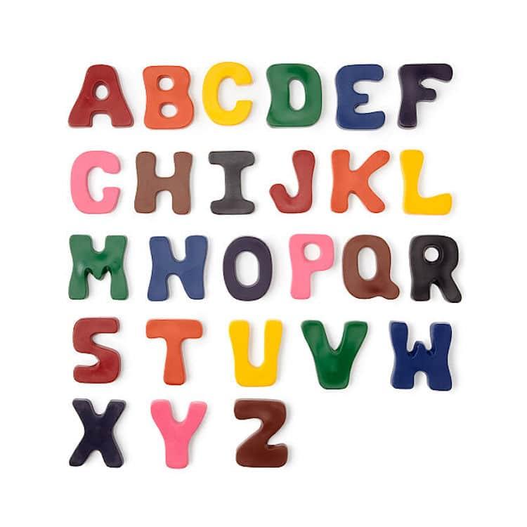 A-to-Z Alphabet Crayons