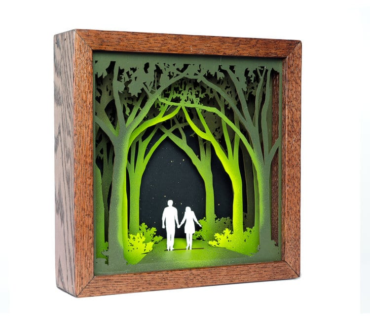 Shadow Box Artist Creates Nature Inspired Wood Art Made From