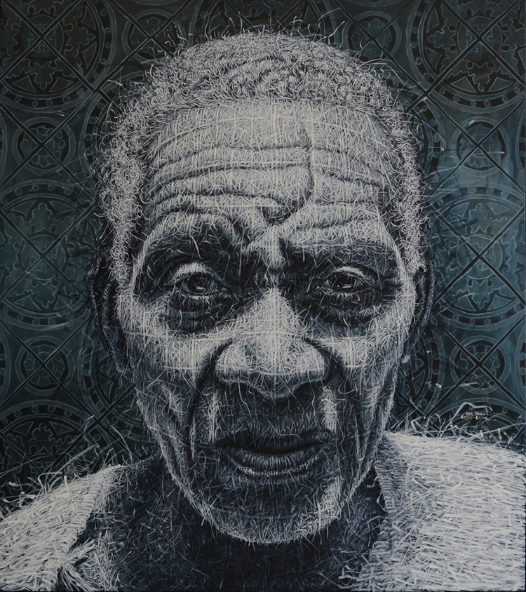 Woven Oil Paintings by Alexi Torres