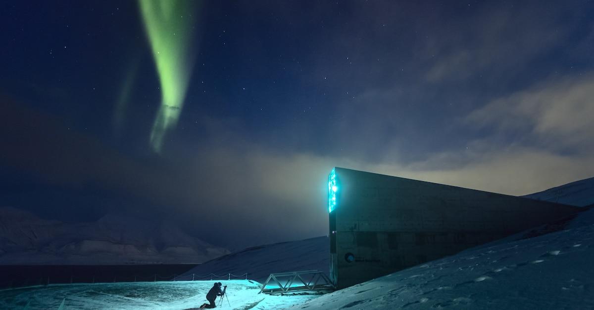 SVALBARD Longyearbeyn Northern Lights by Maria Sahai