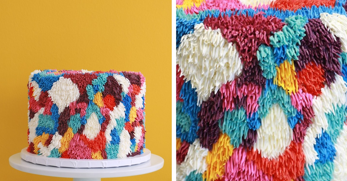 Shag Rug Cakes Feature Meticulously Textured Buttercream
