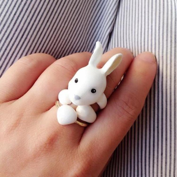 Alice in Wonderland Gifts Alice in Wonderland White Rabbit Alice in Wonderland Ring