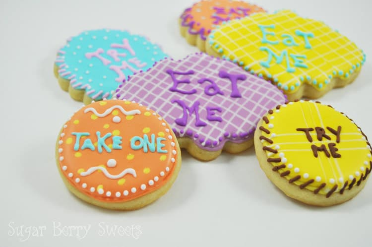 Alice in Wonderland Gifts Alice in Wonderland Cookies Eat Me Cookies