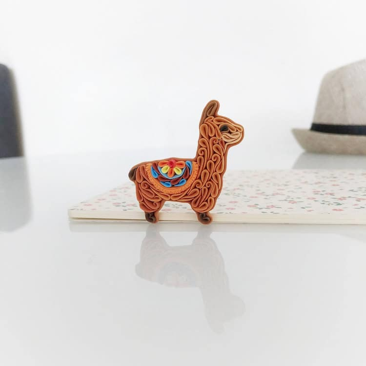 Animal Accessories Llama Brooch