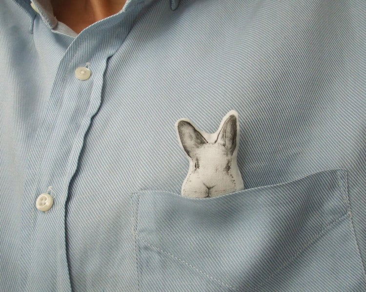 Animal Accessories Rabbit Brooch