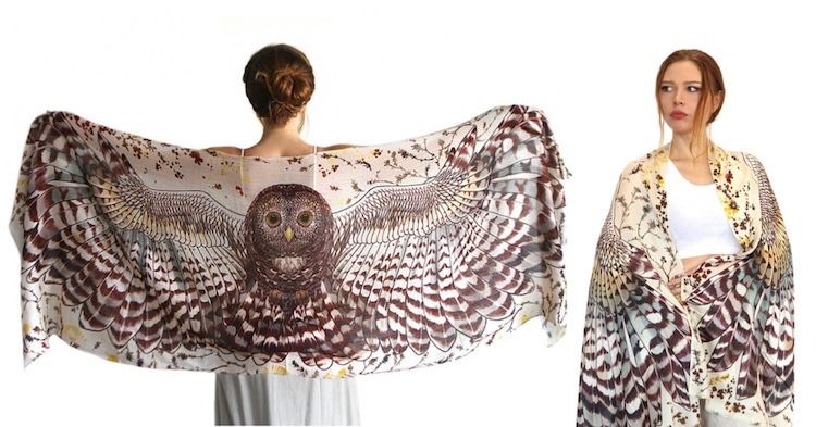 Animal Accessories Owl Scarf