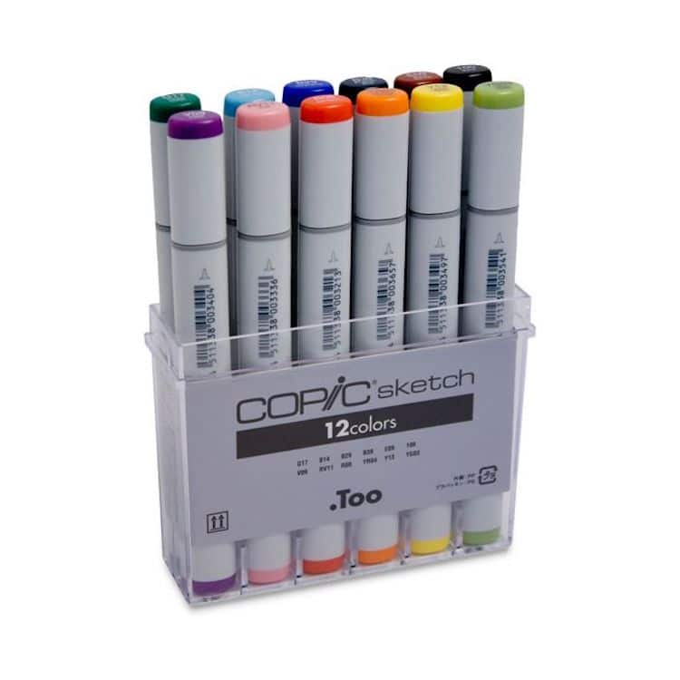 Copic Marker Set of 12