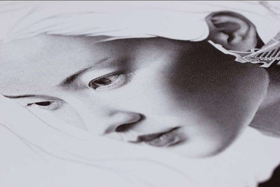Stippling Art Water Art White Charcoal David Bayo