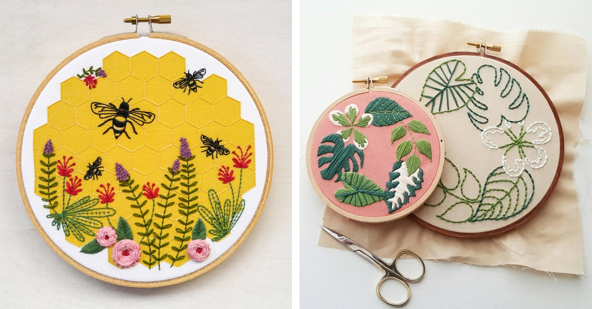 15 Embroidery Patterns That You Can Start Sewing Today