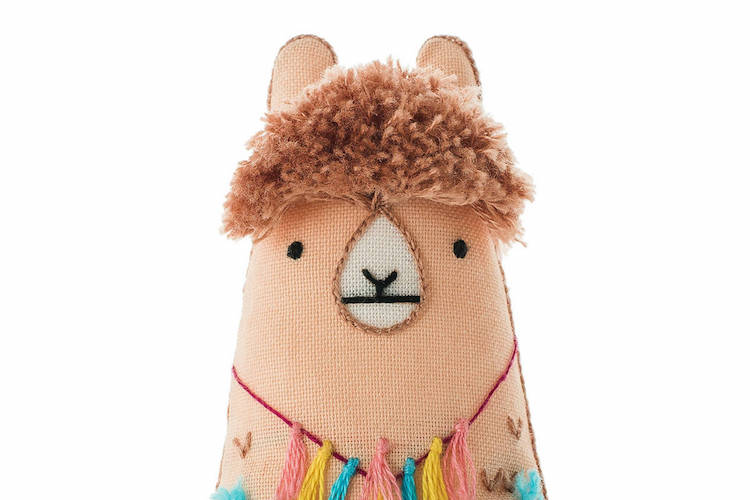 Embroidery Supplies DIY Embroidery Kits Llama Doll