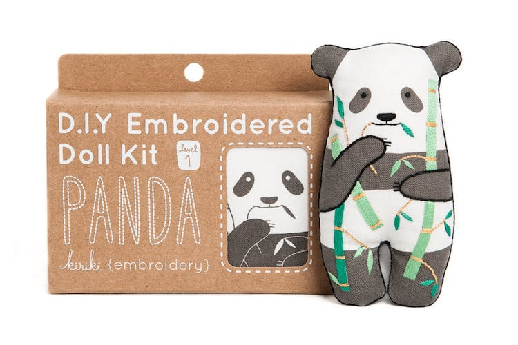 Embroidery Supplies DIY Embroidery Kits Panda Doll