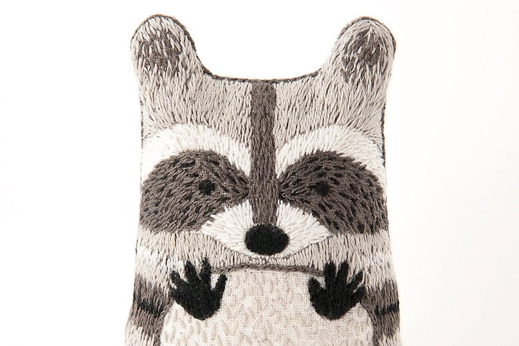 Embroidery Supplies DIY Embroidery Kits Raccoon Doll