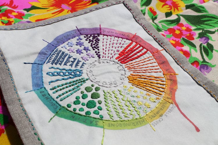 Embroidery Supplies DIY Embroidery Kits Color Wheel Sampler