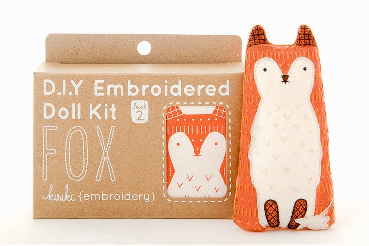 Embroidery Supplies DIY Embroidery Kits Fox Doll