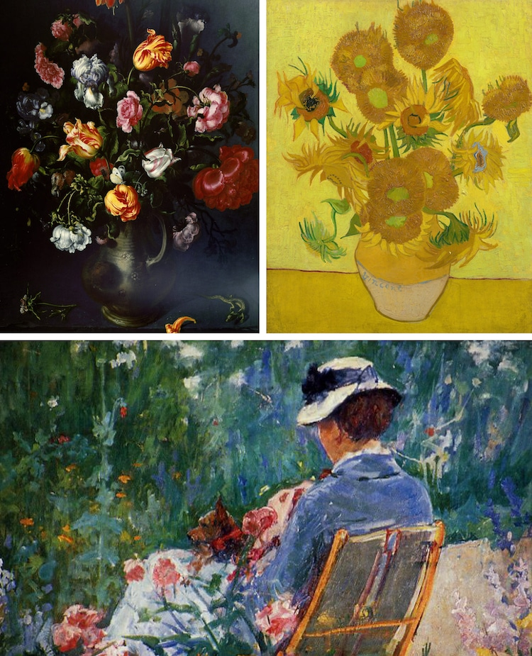 Flower Art History Flower Painting Flower Sculpture Flowers in Art