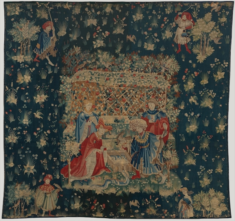 Flower Art History Flower Tapestry Flowers in Art