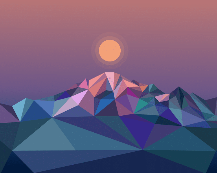 Geometric Landscape Paintings by Elyse Dodge