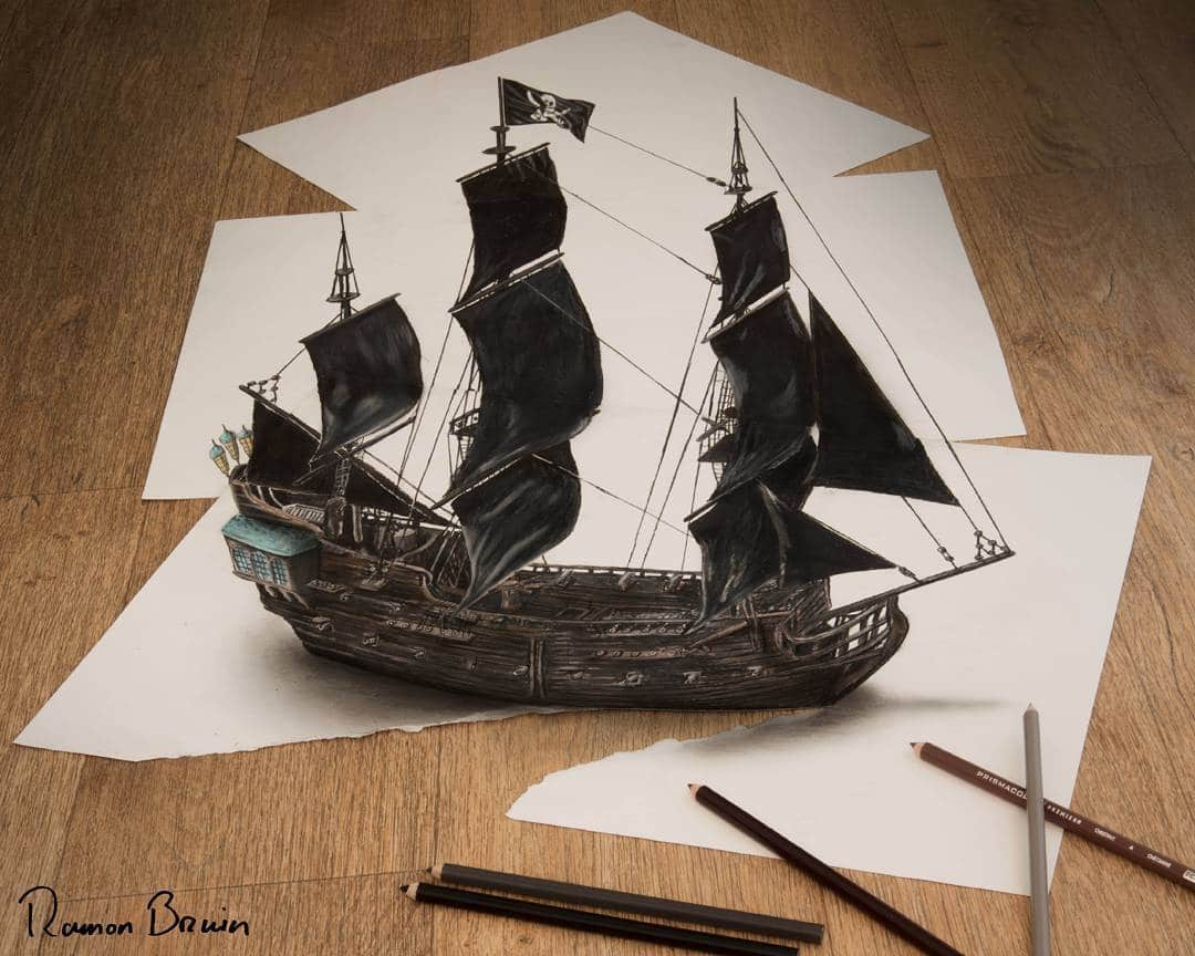 Anamorphic Illusions Transform Ordinary Paper Mind-Bending Artwork