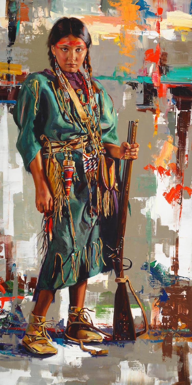 Native American Portraits Native American Dress Jeremy Winborg Art