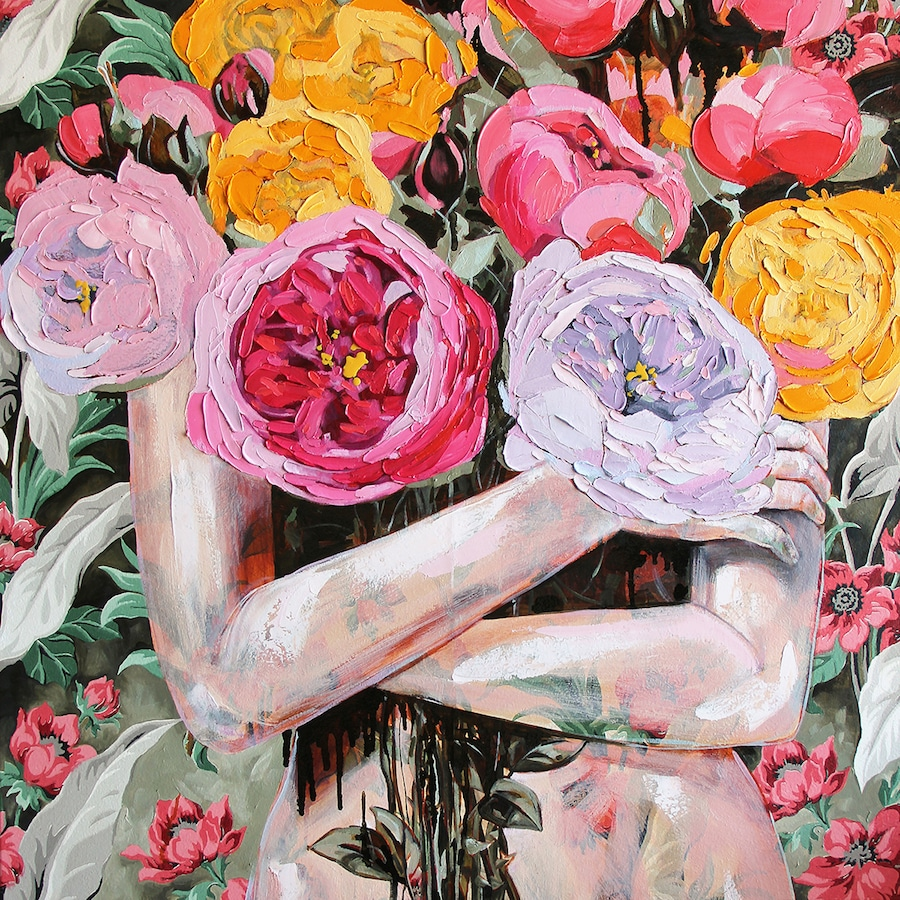 "Interview: ""Maximalist"" Painter Plays With Pattern and Texture to Create Feminist Art"