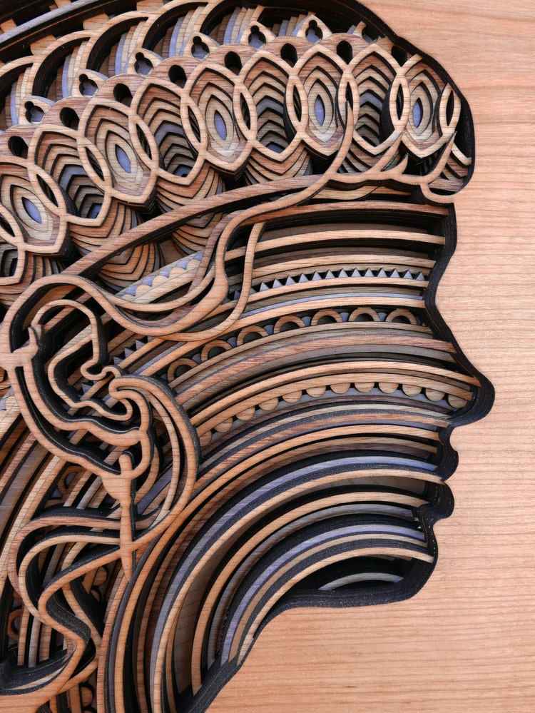 Mesmerizing Laser Cut Wood Wall Art Feature Layers Of Intricate Patterns
