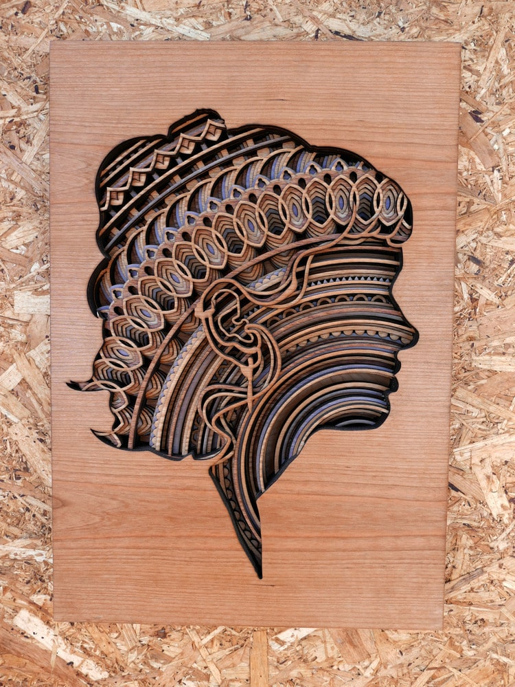 Fresh Mesmerizing Laser-Cut Wood Wall Art Feature Layers of Intricate  WS86