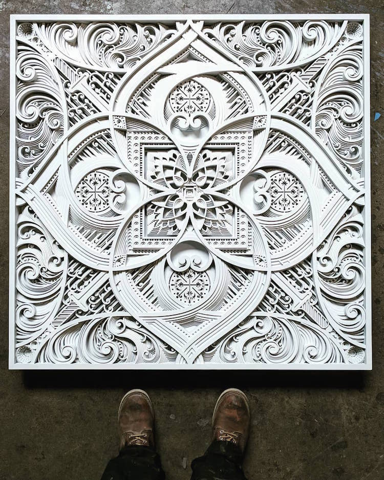 Mesmerizing Laser Cut Wood Wall Art Feature Layers Of