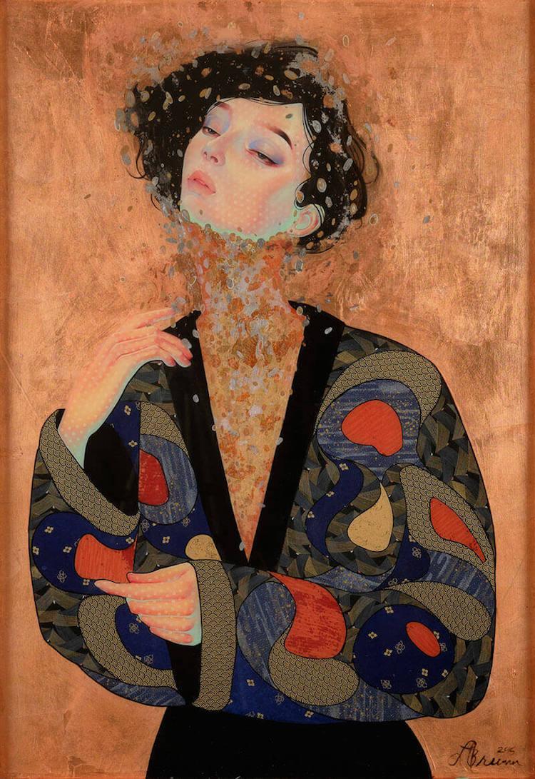 Techniques mixtes Peintures Art contemporain japonais Lauren Brevner