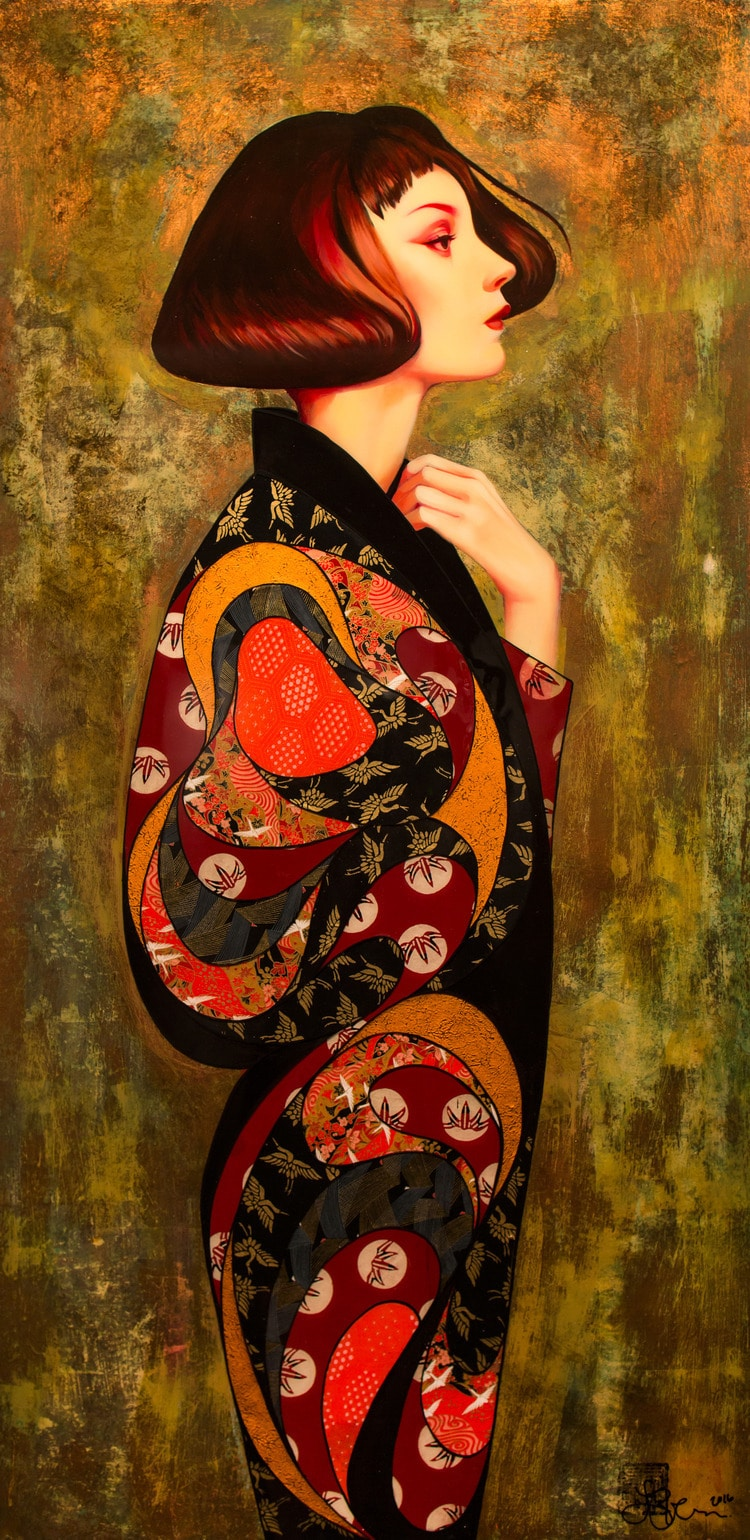 Mixed Media Paintings Japanese Contemporary Art Lauren Brevner