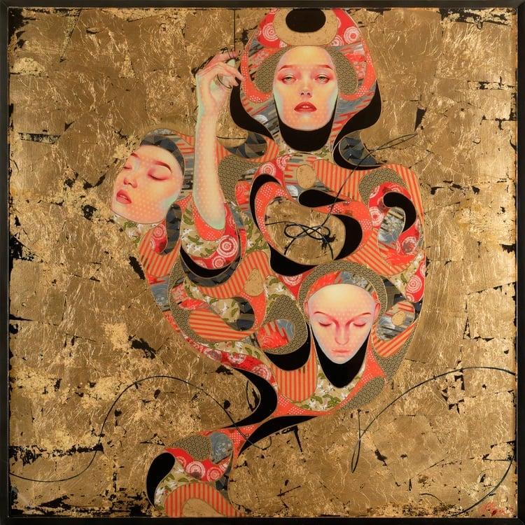 Mixed Media Paintings Japanese Contemporary Art Lauren Brevner