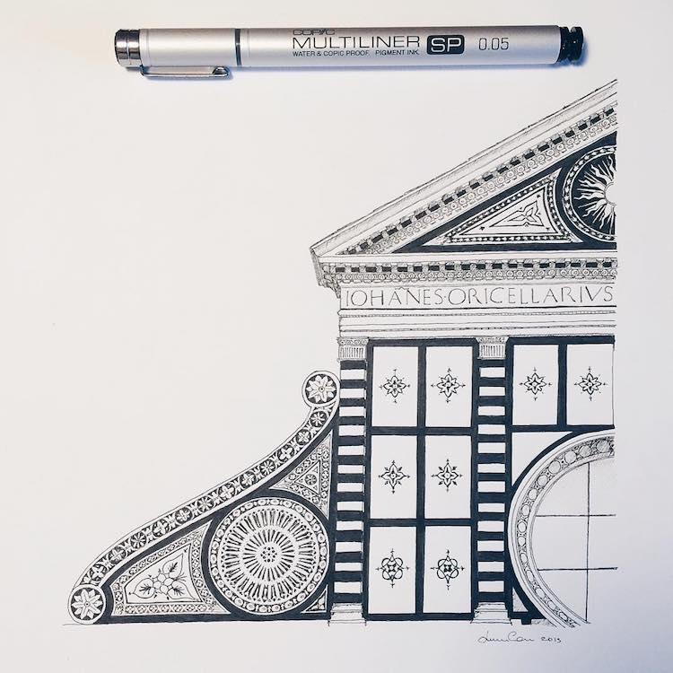 Lorenzo Concas Architectural Drawing