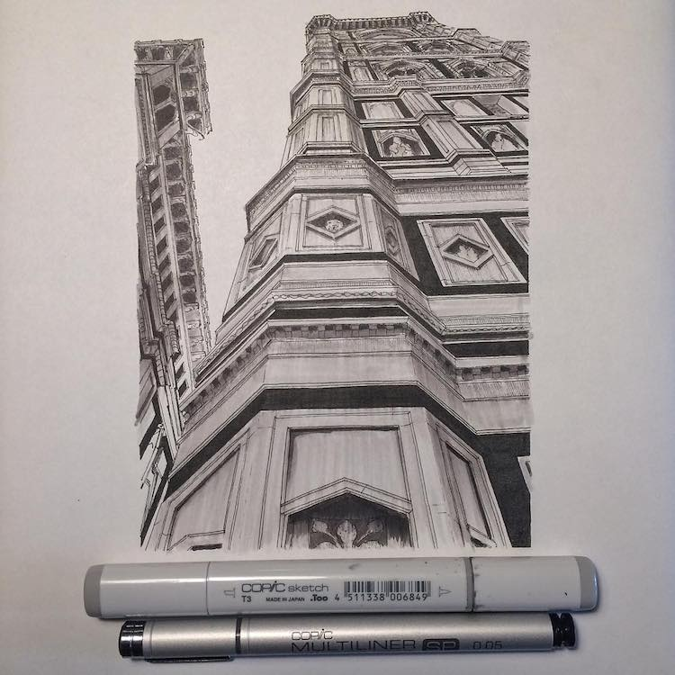 Lorenzo Concas Architectural Sketch