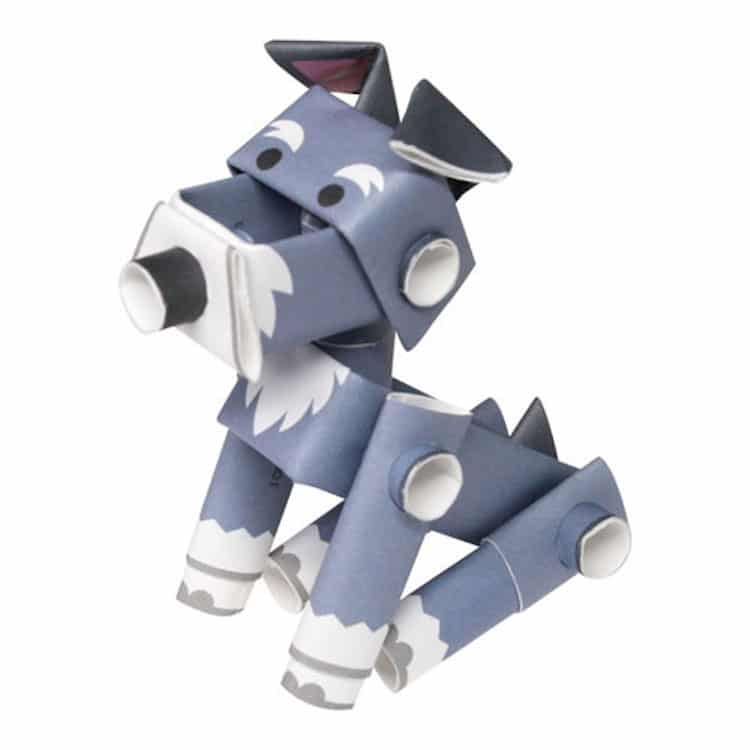 Magnote Paper Dog Doll Paper Toy Piperoid