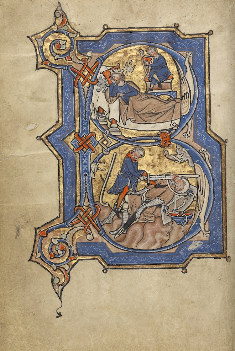 manuscrito medieval iluminado