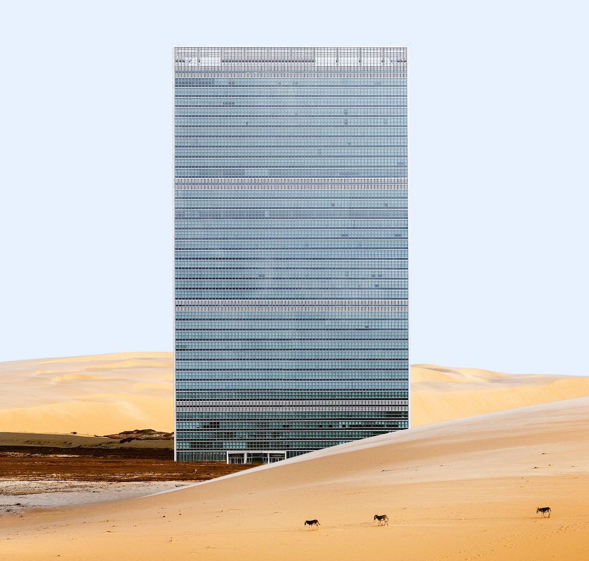 NYC Famous Landscapes Misplaced Digital Collage Series by Anton Repponen