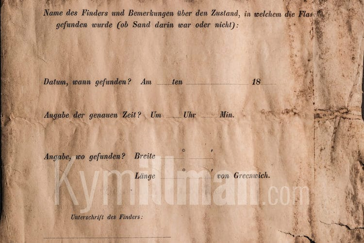 Oldest Message in a Bottle Guinness Book of World Records