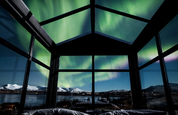 panorama glass lodge is the perfect place to watch the northern lights
