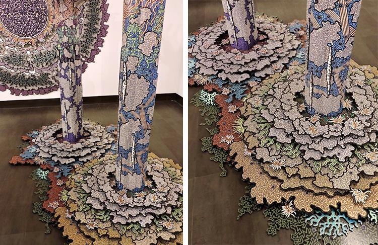 Abstract Sculptures in Colorful Patterns by Terry Hays