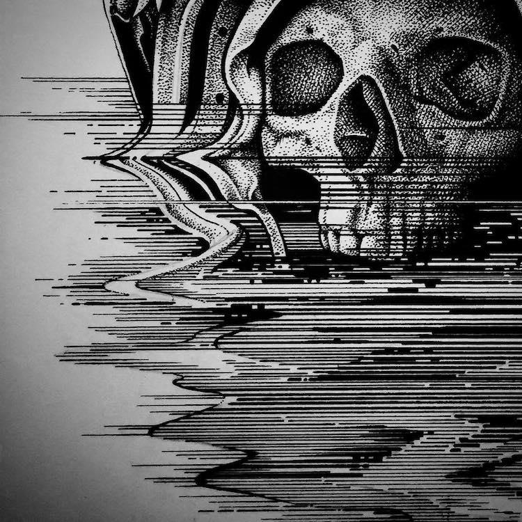 Paul Jackson skull ilustration
