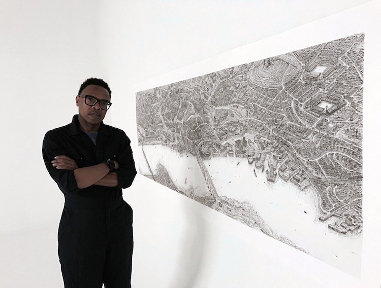 Artist Is Creating Detailed Cityscape Pen Drawings Of All 69 Cities