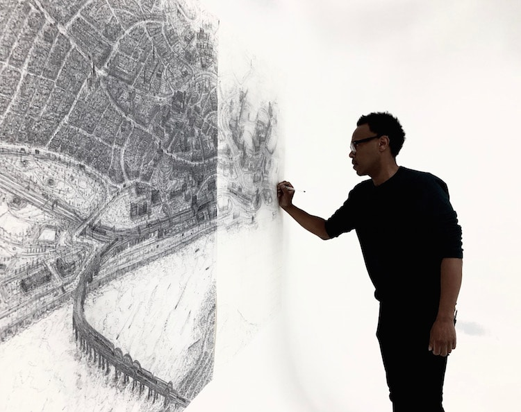 Pen Drawings of UK Cityscapes by Sketch in the City